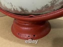Vintage Mobil Gas Pump Globe Light Glass Lens Service Station Garage Pegasus Oil