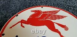 Vintage Mobil Gasoline Porcelain Gas Service Station Pump Pegasus Ad Sign