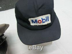 Vintage Mobil Oil Service Gas Filling Station Attendant Uniform Hats LOT of 3