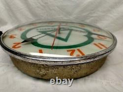 Vintage Original Cities Service Gas Station Advertising Clock Pam Company Sign