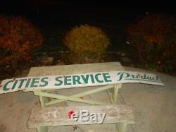Vintage PORCELAIN CITIES SERVICE PRODUCTS OIL Advertising OLD GAS STATION SIGN