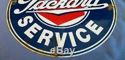 Vintage Packard Gasoline Porcelain Sign Gas Service Station Automobile Dealer Ad