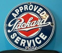 Vintage Packard Porcelain Gas Service Station Automobile Dealership Sales Sign