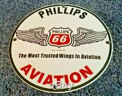 Vintage Phillips Gasoline Porcelain Gas Oil Aviation Service Station Pump Sign