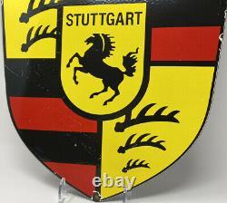 Vintage Porsche Service Porcelain Sign Gas Service Station Oil Dealership Rare