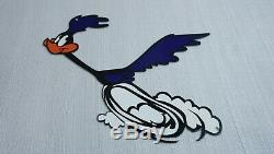 Vintage Road Runner Metal Gasoline Sign Gas Station Service Plymouth Looney Tune