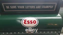 Vintage SANTA CLAUS ESSO GAS Service Station Mailbox Christmas Display Sign RARE