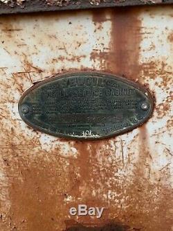 Vintage SELOIL OIL DISPLAY Oil SERVICE Station CABINET Gas