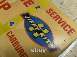 Vintage Service Blue Streak Jiffy Kits Ignition Light Up CLOCK Gas Station Sign