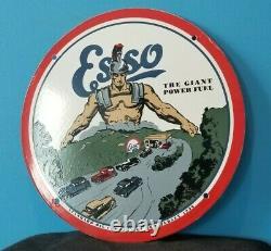 Vintage Shell Gasoline, Esso, Red Indian 5 Porcelain Gas Service Station Signs
