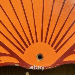 Vintage Shell Gasoline Porcelain Metal Sign 19 Large Gas Station Service Lube