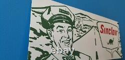 Vintage Sinclair Gasoline Porcelain Gas Route 66 Service Station Auto Road Sign
