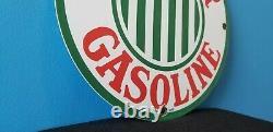 Vintage Sinclair Gasoline Porcelain Gas Service Station Pump Plate Oil Ad Sign