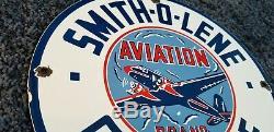 Vintage Smitholene Gasoline Porcelain Gas Service Station Pump Plate Ad Sign