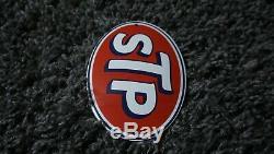 Vintage Stp Porcelain Sign Gas Oil Service Station Gasoline Rare Pump Plate Push