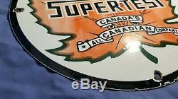 Vintage Supertest Gasoline Porcelain Gas Service Station Pump Plate Ad Sign