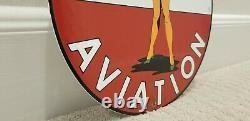 Vintage Texaco Gasoline Porcelain Military Pin Up Girl Gas Service Station Sign