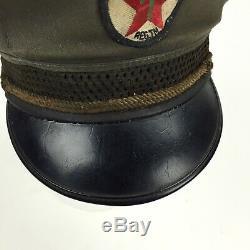 Vintage Texaco Oil Gas Service Station Attendant Hat Uniform Patch Cap 1950s