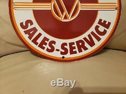 Vintage Willy's Porcelain Gas Jeep Overland Service Station Dealership Sign
