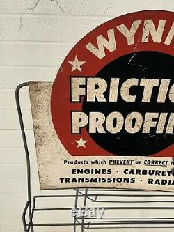 Wynns Friction Proofing Rack Display Sign Gas Oil Garage Service Station Parts