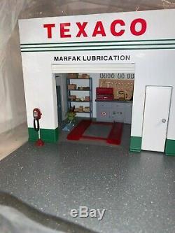 124 Danbury Mint Modèle Réplique À L'échelle Vintage Texaco Station De Gaz Service Display