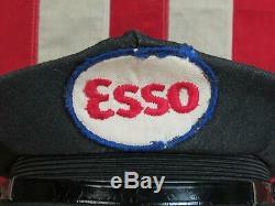 1950 Vintage Esso Service Station Attendant Chapeau Uniforme Laine Essence