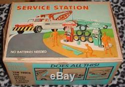 1964 Deluxe Lecture Service Topper Station Près Minty Boxed Manque De Voitures