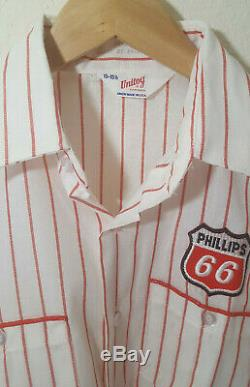 1970 Vintage Phillips 66 Bouton De Service Station De Travail De Gaz T-shirt
