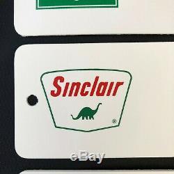 3 Sinclair Toilettes Gas & Oil Service Station Signe Femmes Hommes Vintage Publicité