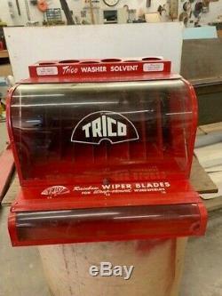 50 Est 60 Vintage Trico Wiper Blade Display Service Station Gaz Cabinet Du Panier