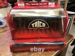 50's 60's Vintage Trico Wiper Blade Display Cabinet Gas Station Cart