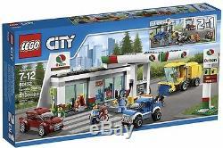 60132 Station Service Lego Train Urbain De La Ville Nouveau Jeu De L'essence Gaz Octan Etanche
