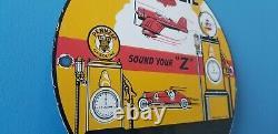 Ancien Panneau De Plaque De Pompe Pennzoil Essence Porcelaine Essence Lube Station De Service