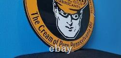 Ancienne Essence Oilzum Station De Service D'essence De Porcelaine Plaque De Pompe Panneau D'huile De Moteur