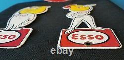 Ancienne Esso Essence Porcelaine Tiger Station De Service Auto Essence Panneaux De Portes