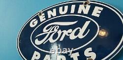 Ancienne Ford Automobile Porcelaine Gaz Auto Station De Service Pièces Panneau De Plaque