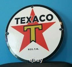 Ancienne Plaque De Pompe Texaco Essence Porcelaine Essence Texas Station De Service