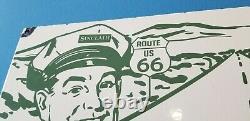 Ancienne Route De L'essence De Porcelaine Sinclair Route 66 Station-service Signal Routier Automatique