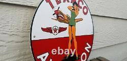 Ancienne Station De Service De Porcelaine D'essence De Texaco
