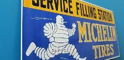 Anciennes Pneus Michelin Porcelaine Service De Bibendum De Gaz De Remplissage Automatique Panneau