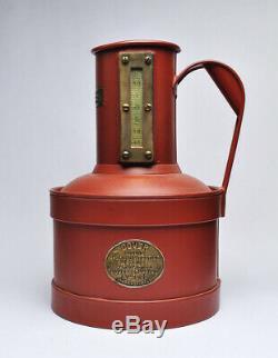 Antique Dover Essai 1 Gal Champ De Mesure Can Gasoil Station Service, Début 1900