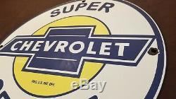 Chevrolet Vintage Porcelain Gas Oil Service Station Camions Concessionnaires Bowtie Connexion