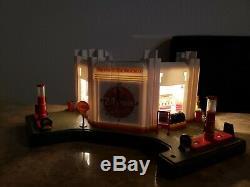 Danbury Mint Shell Service Station Display Light Up Modèle Withclock