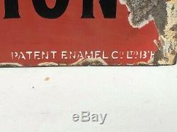 Début Dsp Oil Filtrats Originale Signe Porcelaine Gas Vintage Station Service Rares