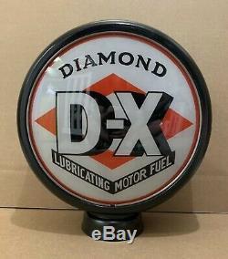 Diamant DX De Pompe À Gaz Globe Lumière Vintage Lentille En Verre Station Service Garage Moteur
