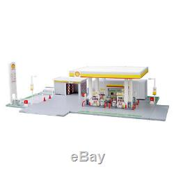 Diy Assemly Modèle Toy 164 Service De Shell Oil Station Scène Set Fr Modèle De Voiture