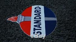Essence Standard Porcelaine Vintage Sign Oil Service Station Plate Pompe