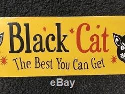 Feux D'artifice Vintage Black Cat Porcelaine Signe Gaz Huile Service Station De Pompage Plate Annonce
