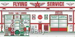 Flying A Service Station Pompes À Essence Scène Murale Se Connecter Bannière Garage Art 8' X 16