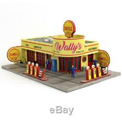 Gauge Limited Edition Ho Wallys Shell Gas & Station Service Pré Construit Prelit